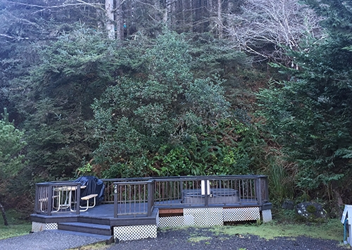 Image for #026 Hot Tub Site - Forested View 30/50amp - 42'