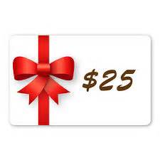 picture of a $25 gift voucher