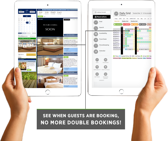 ResNexus books in real-time and prevents double bookings