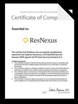 ResNexus PCI certificate