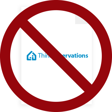 ThinkReservations is no PCI Compliant